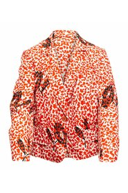 Pre-owned Abstract Print Blazer