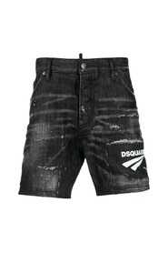 Shorts With Contrasting Logo Print