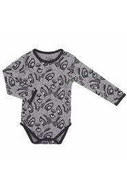 Petit by Sofie Schnoor - Body LS, Panda - Dark Grey / Black
