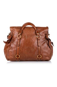 Vitello Lux Bow Satchel Bag