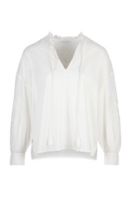 By-Bar MADELIEF BLOUSE - OFF WHITE