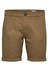 Tan Selected Homme shorts