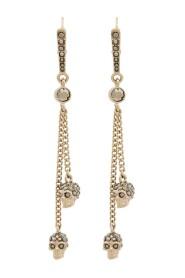 Chain skull earrings