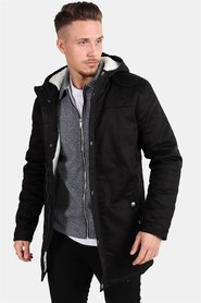 Only & Sons Alex Teddy Parka Jakke Black