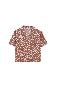 Brown Petal Shirt