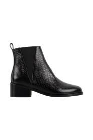 L'entêtée snake effect leather Chelsea boots