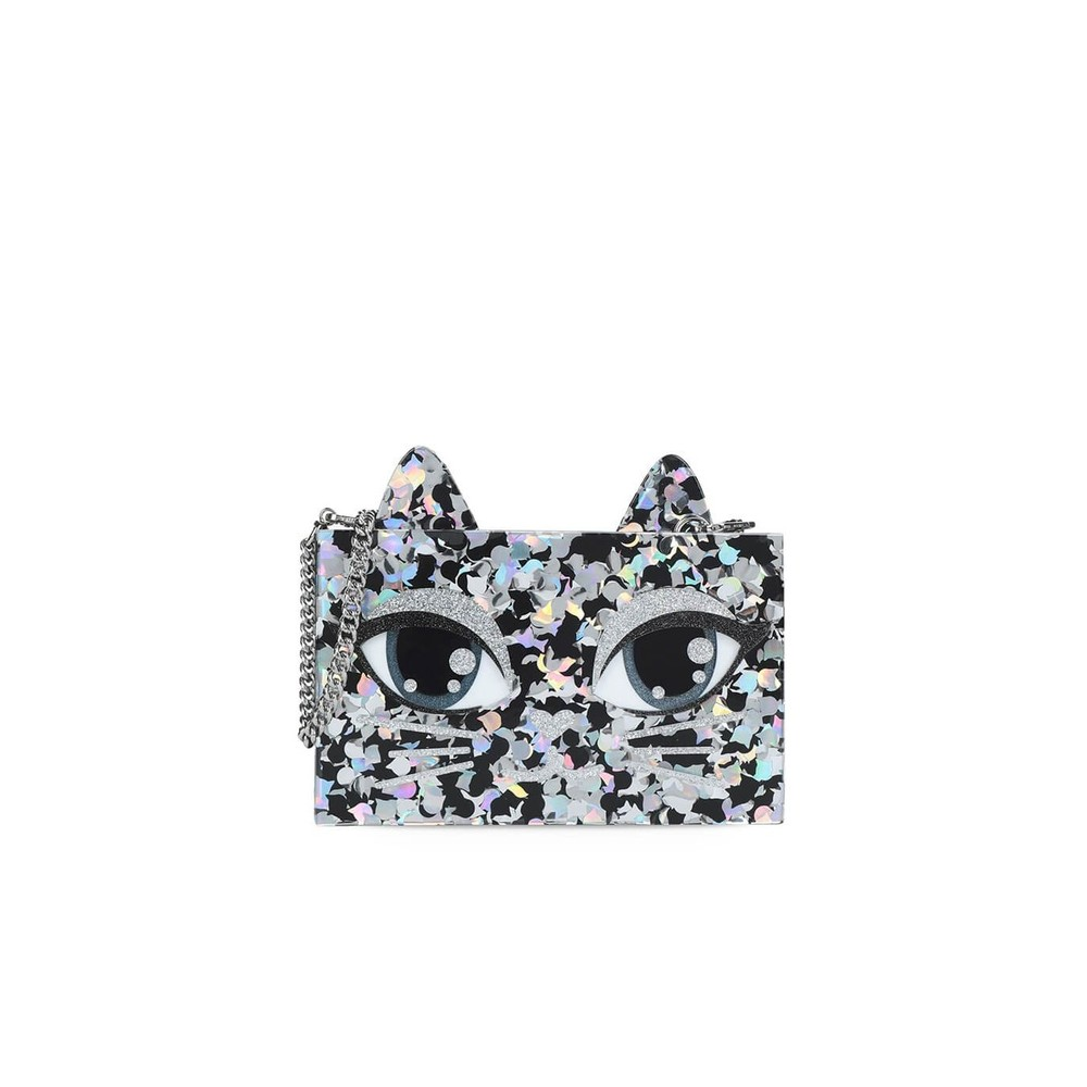GLITTER CHOUPETTE CLUTCH BAG