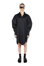 SILK-COTTON SHIRT DRESS