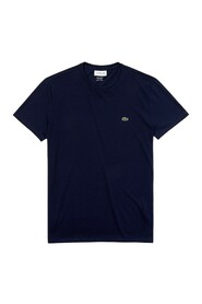Crew-neck T-shirt in solid color Pima cotton jersey