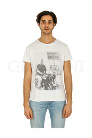 STEVE MC QUEEN IN MOTO T-SHIRT