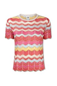 Wavy Knitted T-Shirt