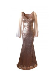 Sequined dress with sleeves