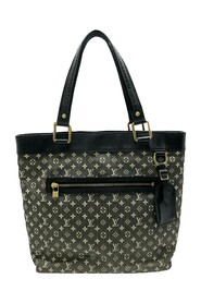 Pre-owned Monogram Mini Lin Lucille GM Fabric Canvas
