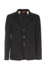 TOPPA FILOTTO DESTRUCTED PINSTRIPED JACKET