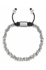 Men's Beaded Bracelet with Sterling Silver Faceted Flower Beads