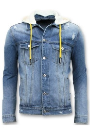 Denim jacket Ripped with Hood