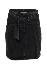 Indy Denim Belted Skirt