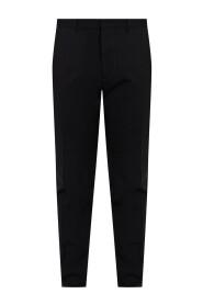 Wool pleat-front trousers