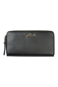 women's wallet leather coin case holder purse card bifold K/Signature