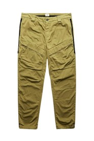 SATIN CARGO TROUSERS WITH SIDE WAISTBANDS