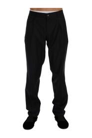 Striped lana stretch pantaloni formali