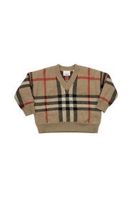 DENNY  Wool and cashmere pullover with tartan pattern