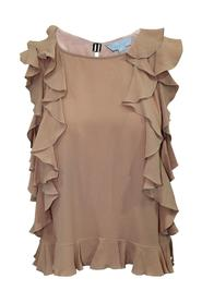 Top With Ruffles -Pre Owned Condition Very Good