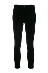 VELVETEEN ROCKET CROP HIGH SKINNY