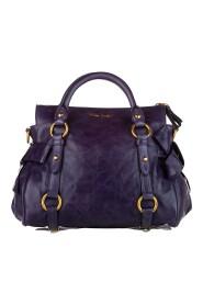 Begagnade Vitello Lux Bow Satchel Leather