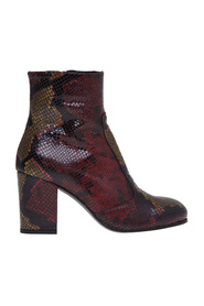 Python print leather ankle boot and heel