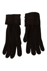 Wool Knitted Wrist Length Gloves