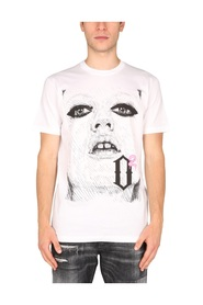 T-SHIRT WITH POP PRINT