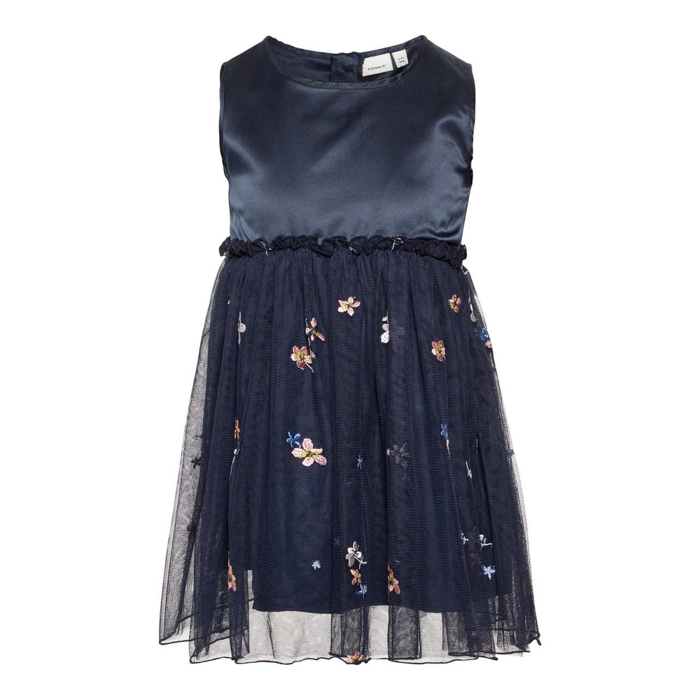Dress floral embroidered tulle