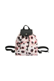 Le Pliage COLLECTION Flower Print 1609 667 B98 Leather Nylon Backpack