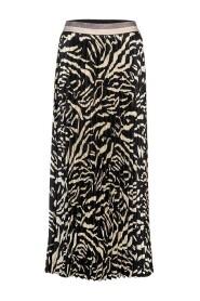 rok plisse zebra print