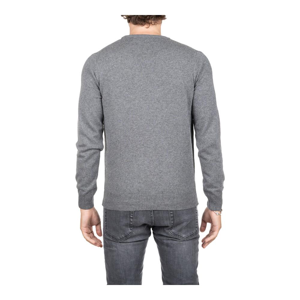 Gray Sweater Kangra Cuello en V  Ropa de hombre YXdbU