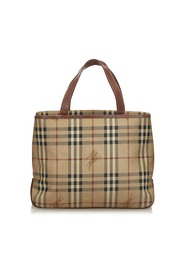 Haymarket Check Coated Canvas Tote Bag