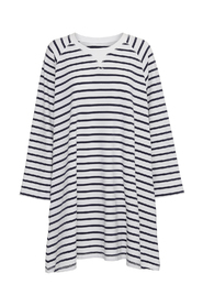Fall sweatdress stripe