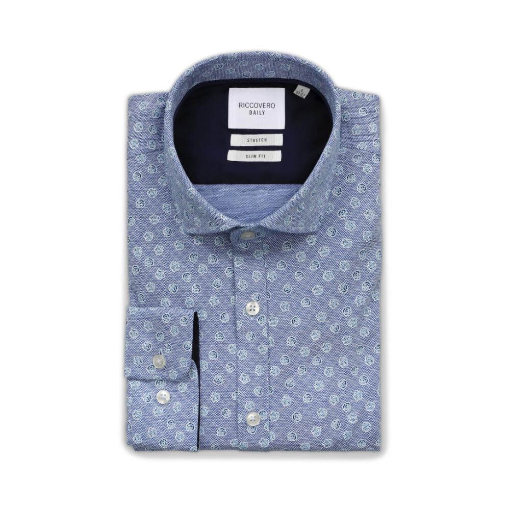 Blue Leo Slim Skjorte   Riccovero   Langermede skjorter