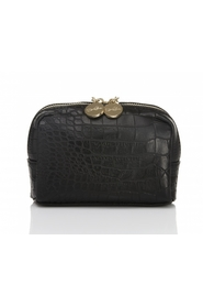 Lulu`s BEAUTY TOILET BAG black CROCO STRUKTUR