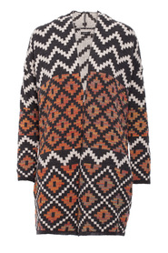 Cardigan with aztec pattern