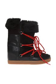 'Nowly' wedge moon boots