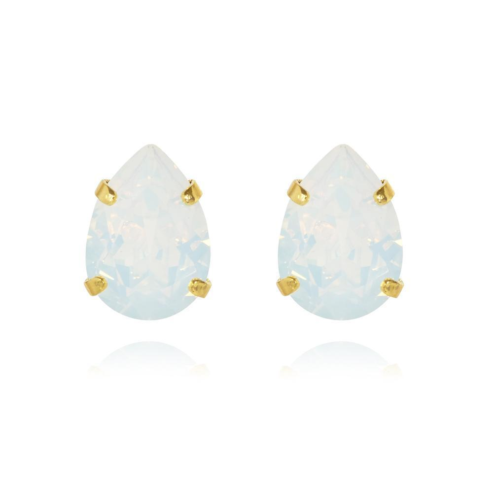 Caroline Svedbom Mini Drop Stud Earring - White opal