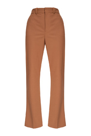Jamuna pleat-front trousers