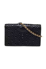Quilted Leather Fleming Chain Clutch