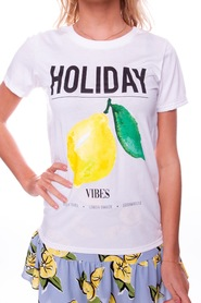 Holiday Vibes Tee Colourful rebel