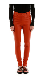 Stretch nappa trousers
