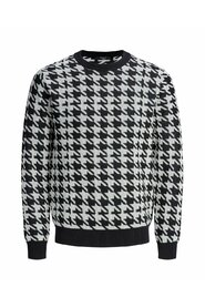 Knitted Pullover Houndstooth