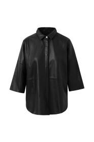 Oversize leather shirt