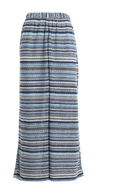 KNITTED VISCOSE PALAZZO TROUSERS
